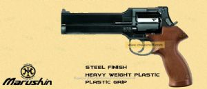 Mateba Revolver 6mm X Cartridge +Plastic Grip (Steel Finish,Heavy weight)